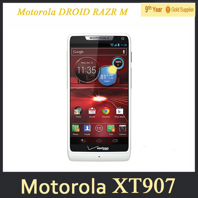 "XT907 Original Unlocked Motorola DROID RAZR M XT907 Cell Phone 4.3""inch Android Wifi GPS 8MP Camera Dual Core Refurbished(Hong Kong)"