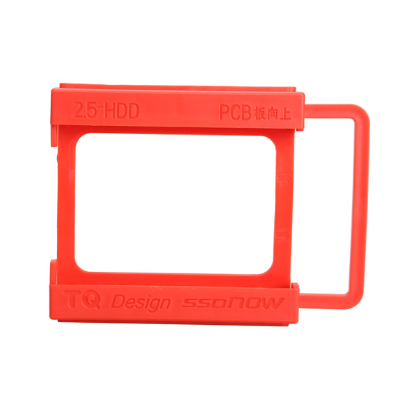 2.5 to 3.5 Inch SSD Notebook HDD Hard Disk Mounting Adapter Dock Holder Red(China (Mainland))