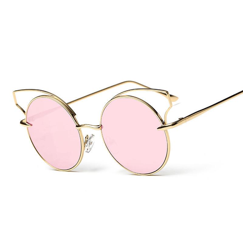 New Metal Wrap Cat Eye Sunglasses Women Brand Designer Coating Vintage retro colors ladies sonnenbrille gafas de sol CJ1562(China (Mainland))