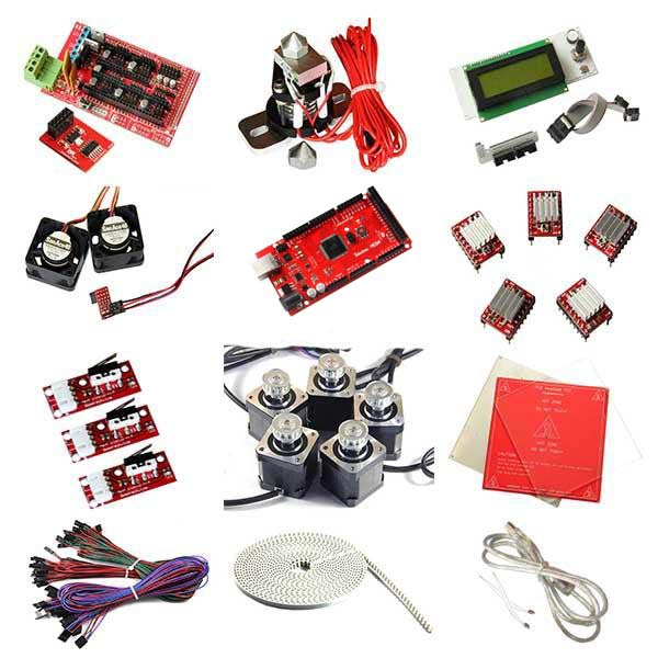 3D printer kits DIY Ramps1 4 LCD2004 heatbed MK2a Nema17 stepper motor A4988 driver Aluminium Plate