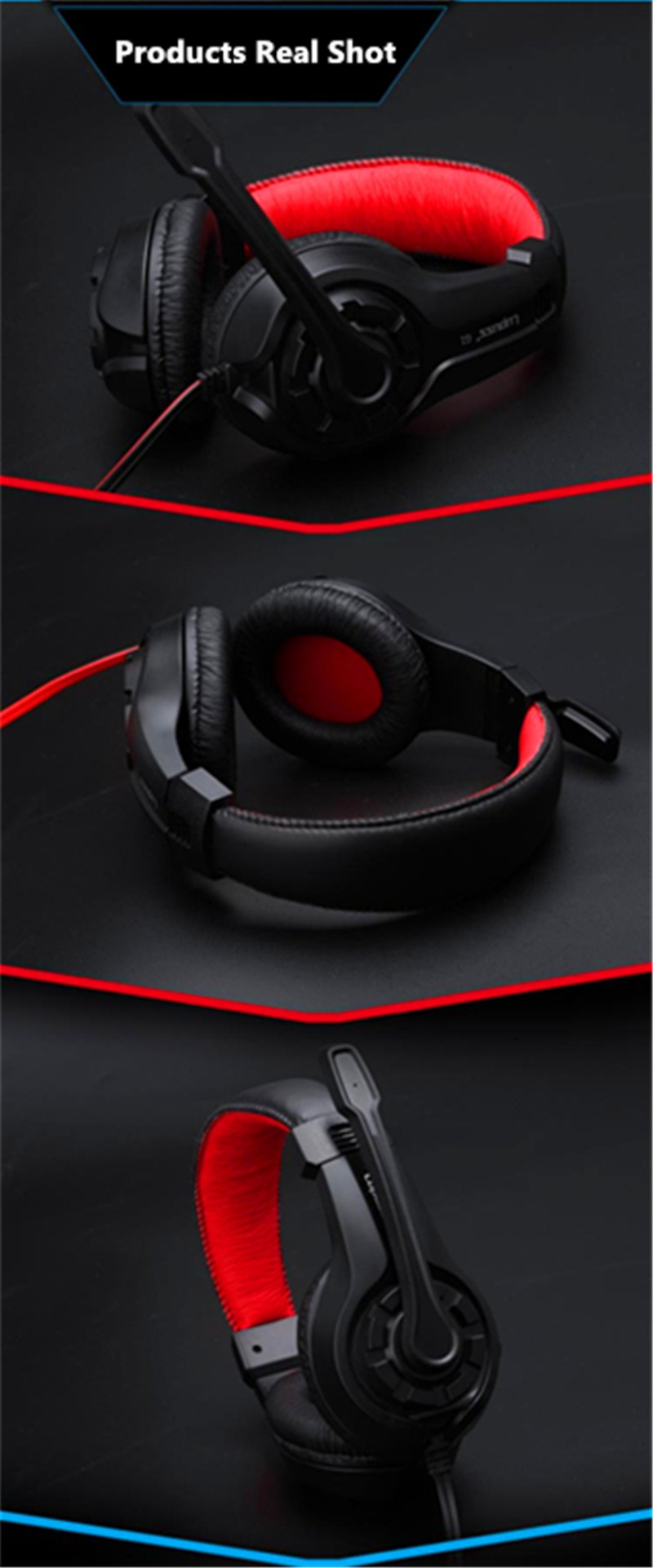2016 Original LPS G1 Music Super Bass Gaming Headset casque Audio Earphone Light Headphone with Micorphone for Computer PC gamer
