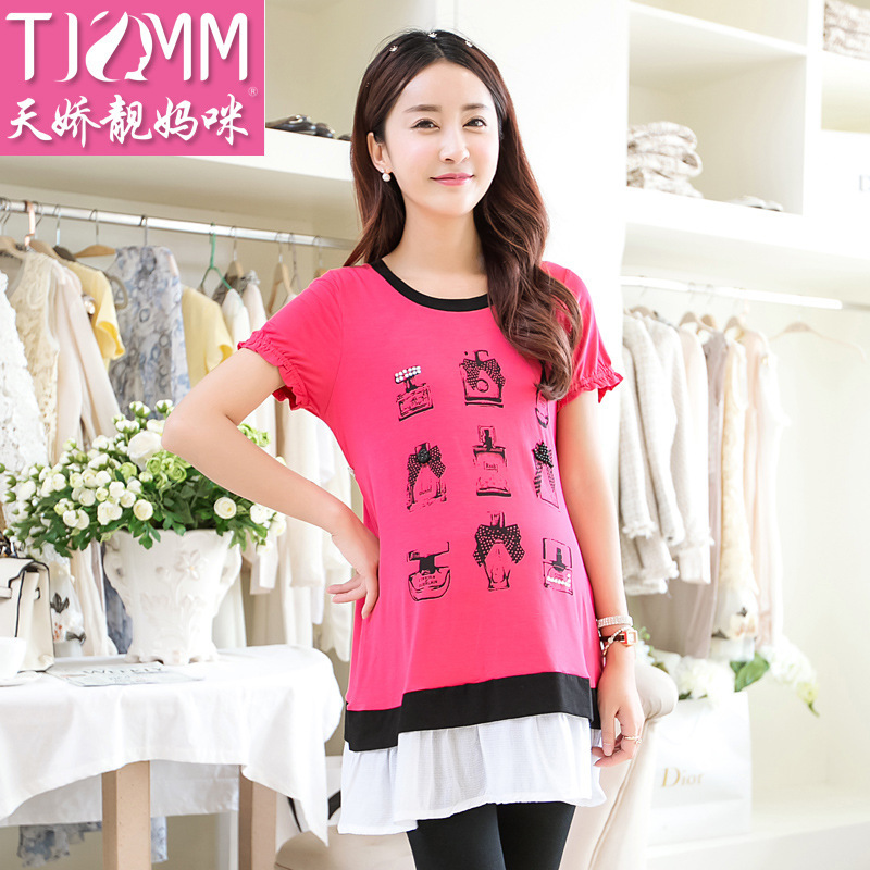 on behalf of factory direct summer new short sleeved shirt T-shirt printing of pregnant women in pregnant women<br><br>Aliexpress