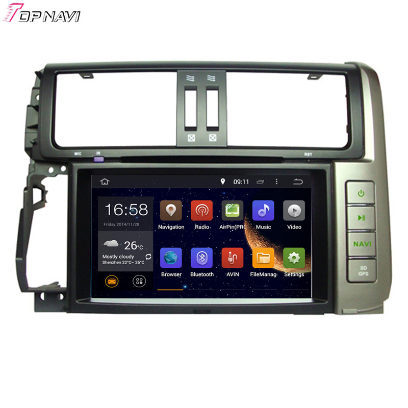8'' Quad Core Android 5.1 Car Stereo GPS For TOYOTA PRADO 2010- With DVD Radio Multimedia Map Wifi BT 16GB Flash Free Shipping(China (Mainland))