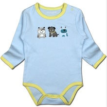 France European Style Baby Boy Baby Girl Pajamas Rompers Body suit One-pieces cotton clothes Long-sleeved cute animal printed