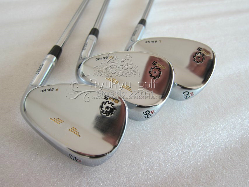 """SM5 white golf Wedge Set 52""""/56""""/60"""" Degree Golf Clubs Brand Name Label Steel Shaft Come With Headcover(China (Mainland))"""