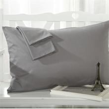 Gray Pillow Case Rectangle Solid Color Bedclothes 100% Cotton Soft Decorative Pillow Covers 48cmx74cm 2pcs(China (Mainland))