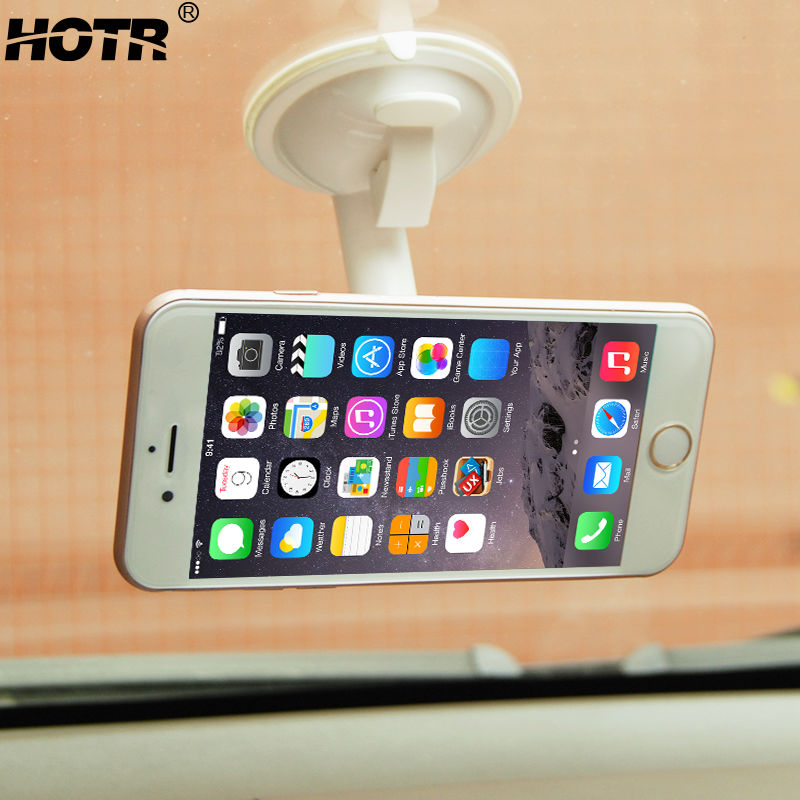 Practical Stand Mount Car Phone Holder 360 Rotatable Sticky Windshield Car Holder Display GPS Universal for All Mobile Phone(China (Mainland))
