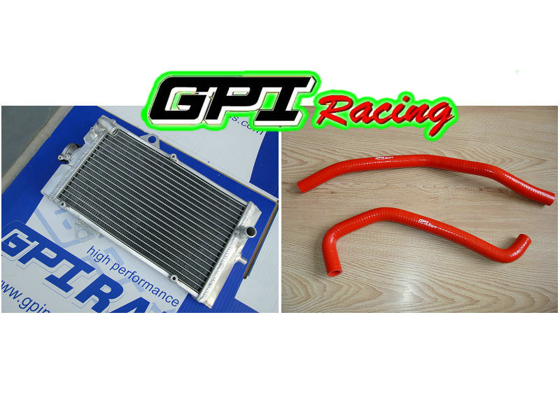 GPI aluminum racing Radiator + HOSE for Yamaha Raptor YFM 700R YFM700R 2006-2012 2007 2008 2009 2010 2011 06 07 08 09 10 11(China (Mainland))