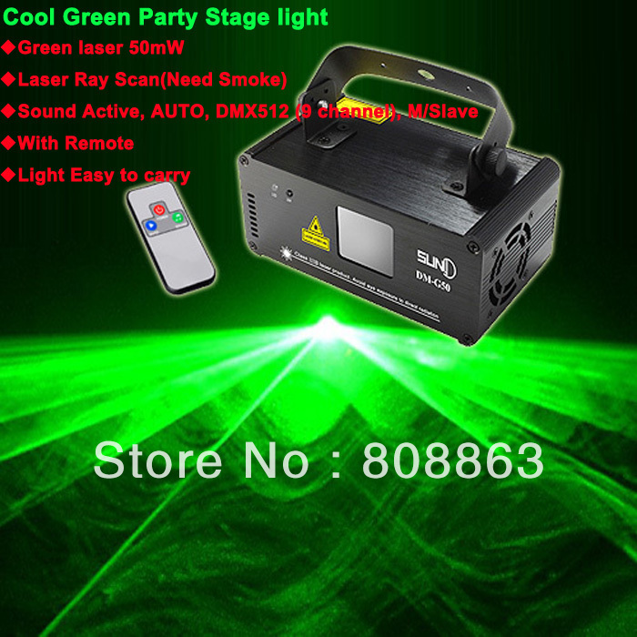 50mw Green DMX512 Laser Stage Lighting Scanner effect light Smoke DJ Disco Party Xmas Lights Show Remote Digital Display DMX D69(China (Mainland))