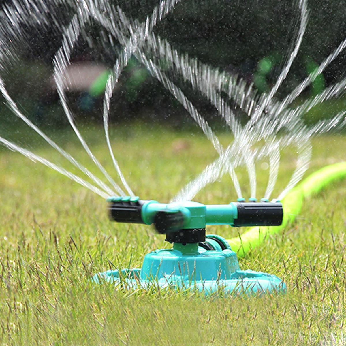 Watering Head Garden Brass Supplies Lawn Sprinkler Garden Sprinklers Water Durable Rotary Three Arm Water Sprinkler(China (Mainland))