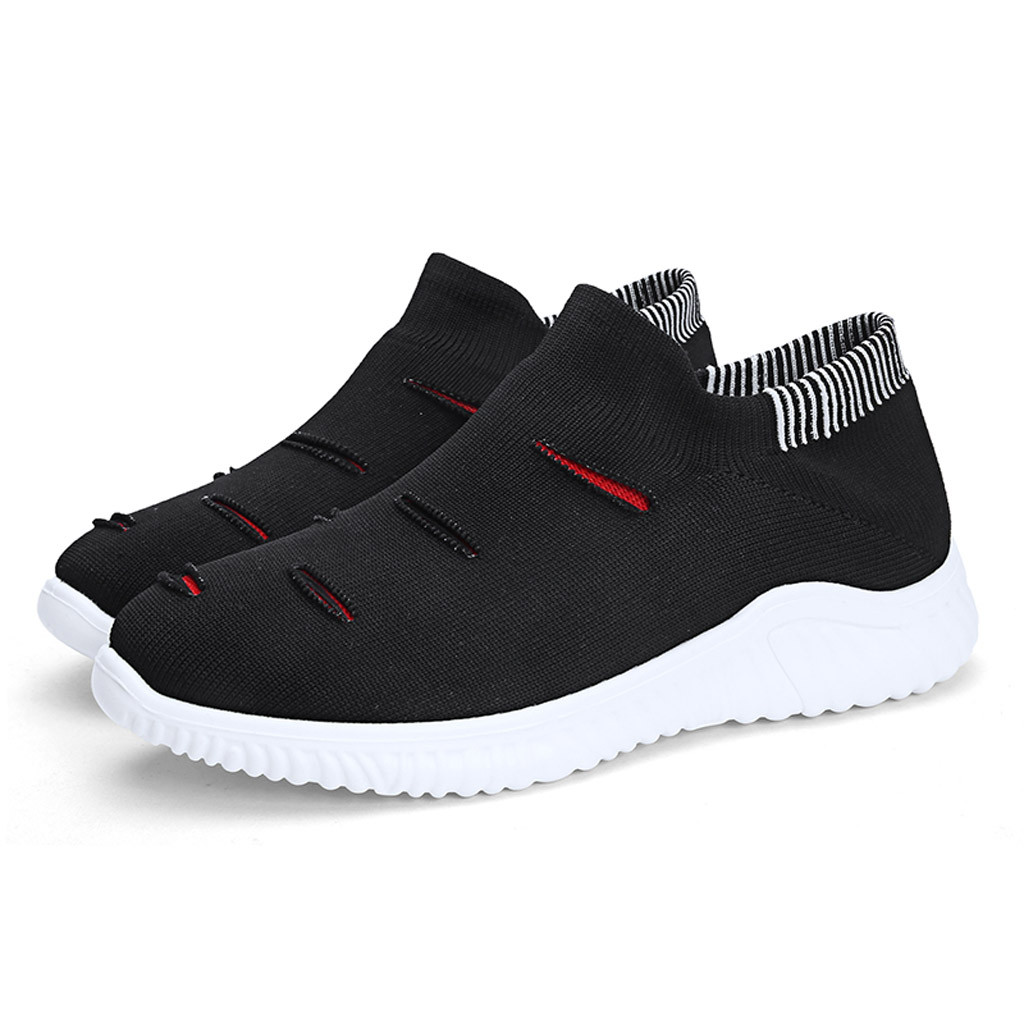 Muqgew Hollow Out Solid Big Size Flats Sneakers Shoes New Arrival Casual Sets Of Feet Lightweight Outdoor Non-slip Sneaker Shoes Men's Casual Shoes