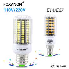 Buy Foxanon E27 E14 Led lamp 220V 110V 127V Corn Light lampada 5733 Chip 30 42 64 80 108 136Leds Bulb Brighter 5730 Christmas for $1.99 in AliExpress store