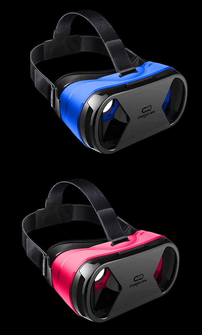 MAGICSEE G1 Virtual Reality 3D Glasses Virtual Reality Glasses Case 360 Degrees Private IMAX Theater for 4-6 inch Mobile Phones