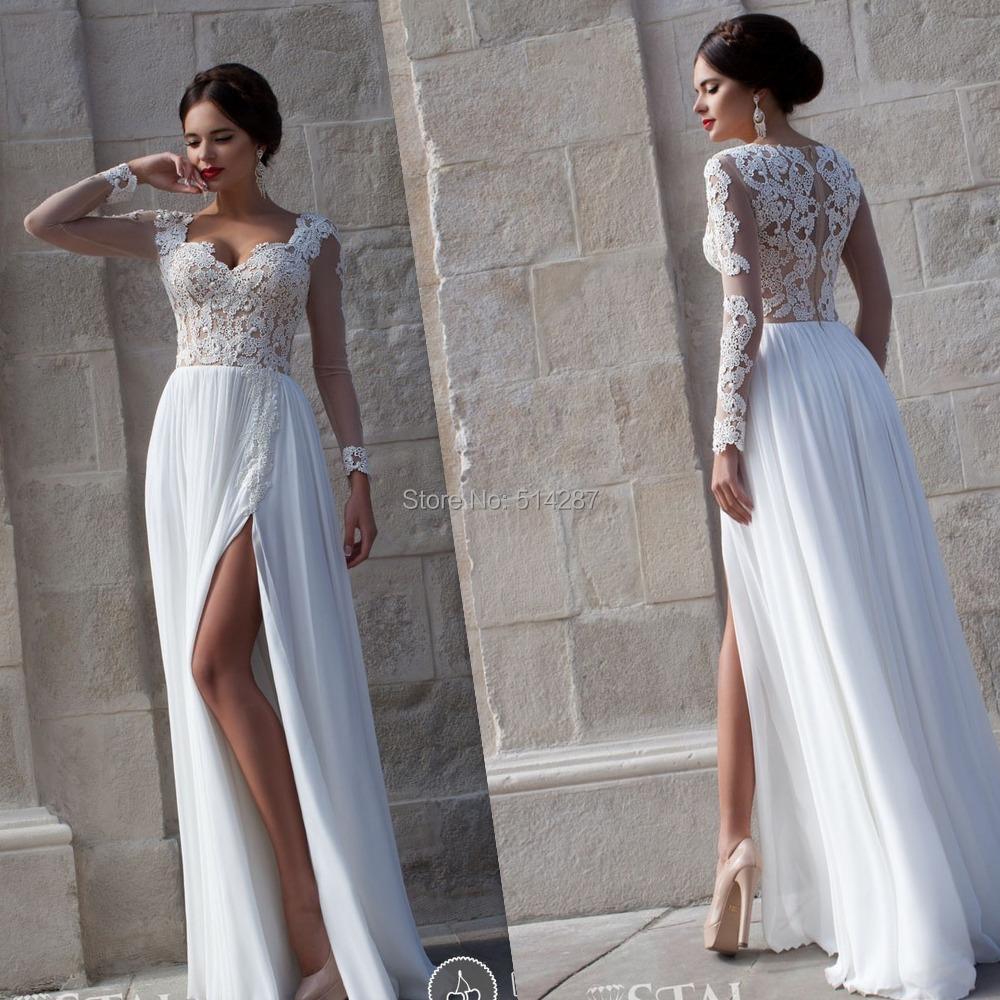 Vestidos para boda civil manga larga