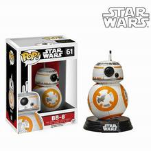 Free shipping Gift Box Star Wars VII BB8 Action Figure Kids Toy 11CM/Movie Pop High Quality PVC Cute Figure Toy Head Can Rotate