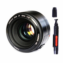 Buy YONGNUO YN 50MM F1.8 Large Aperture Auto Focus Lens Canon EF Mount EOS Camer+Lens cleaning pen for $50.00 in AliExpress store