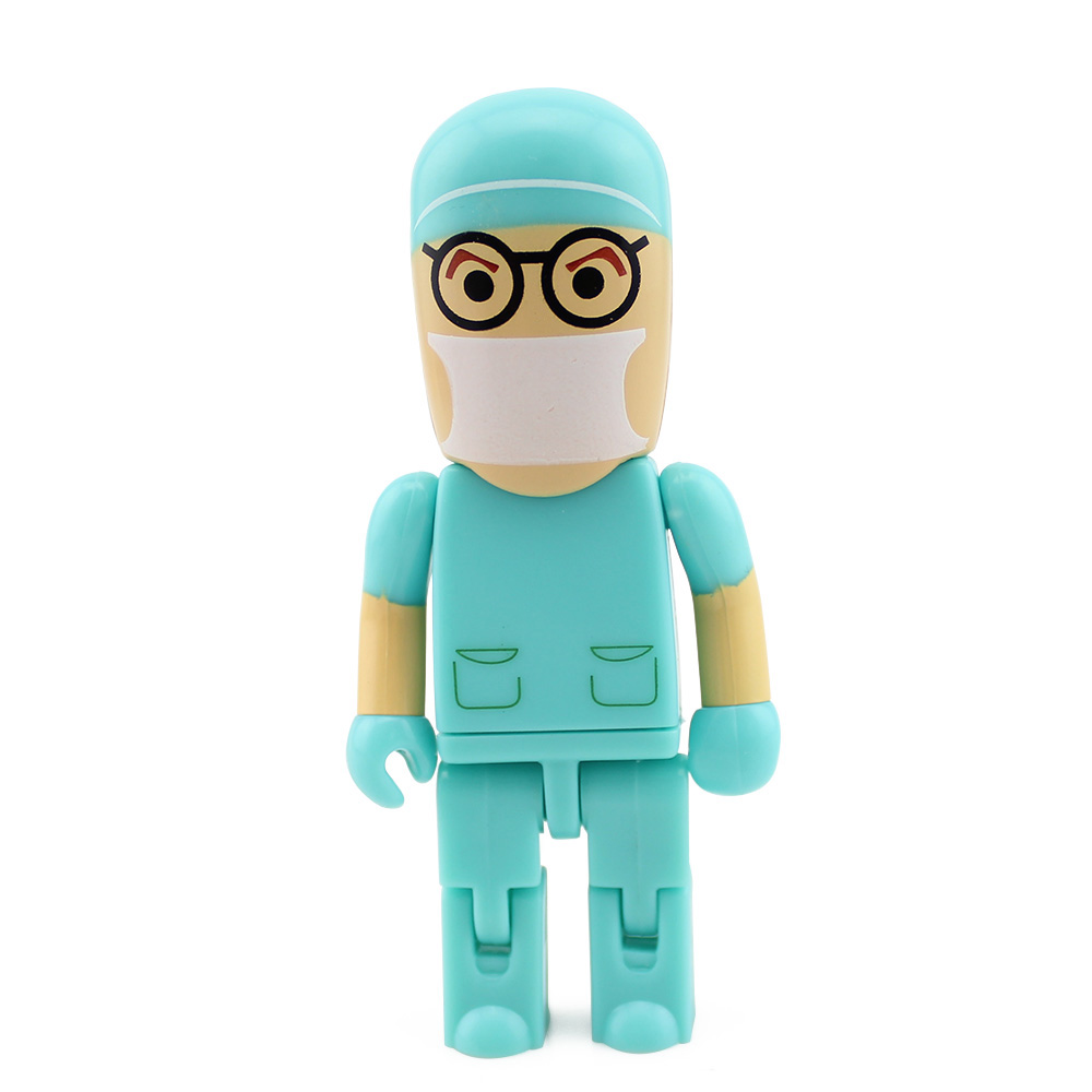 Hot-selling Green Doctor Robot Model USB Flash Drives Pen Drives Memory Stick Fashion U Disk(China (Mainland))