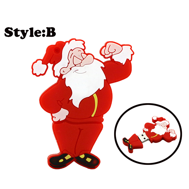 New Promotion price cartoon Santa Claus model usb memory stick usb flash drive pen drive 4GB 8GB 16GB 32GB 64GB free shipping(China (Mainland))