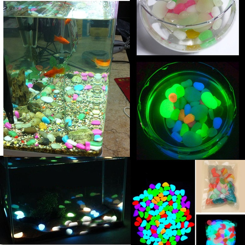 Buy 10 pcs glow dark aquarium colorful for Aquarium stone decoration