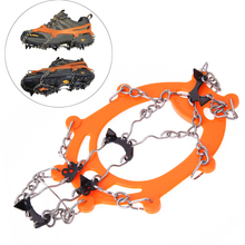 Anti Slip Ice Grip Cleats Shoe Boot Crampon Ice Grip Chain Overshoe Spike Sharp Snow Walker Ice Gripper for Winter Outdoor(China (Mainland))