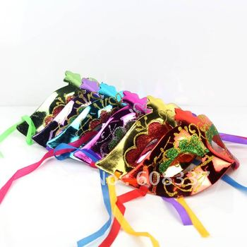 Free Shipping 50pcs/lot  Mixed color Plastic Mateiral Beauty Christmas Party Masks For Girl