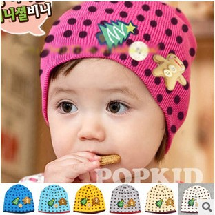 5pcs/lot Christmas Baby Caps Cotton Baby Hat Baby Cap infant Beanies Infant Hats Skull Caps Toddler Boys & Girls Gift #1060(China (Mainland))