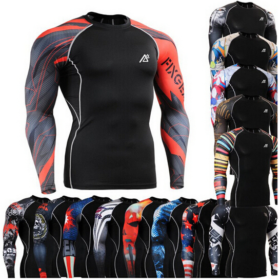 Life On Track Original Compression Shirts Long Sleeve Shirts Multiuse MMA GYM Crossfit Running Tops Shirts(China (Mainland))