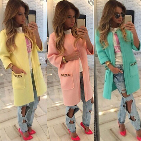 New Women Lady Warm Fashion Trench Outwear Fashion Slim Fit Vogue Elegant Sweet Casual Chic Sexy Overcoat Blazer Coat