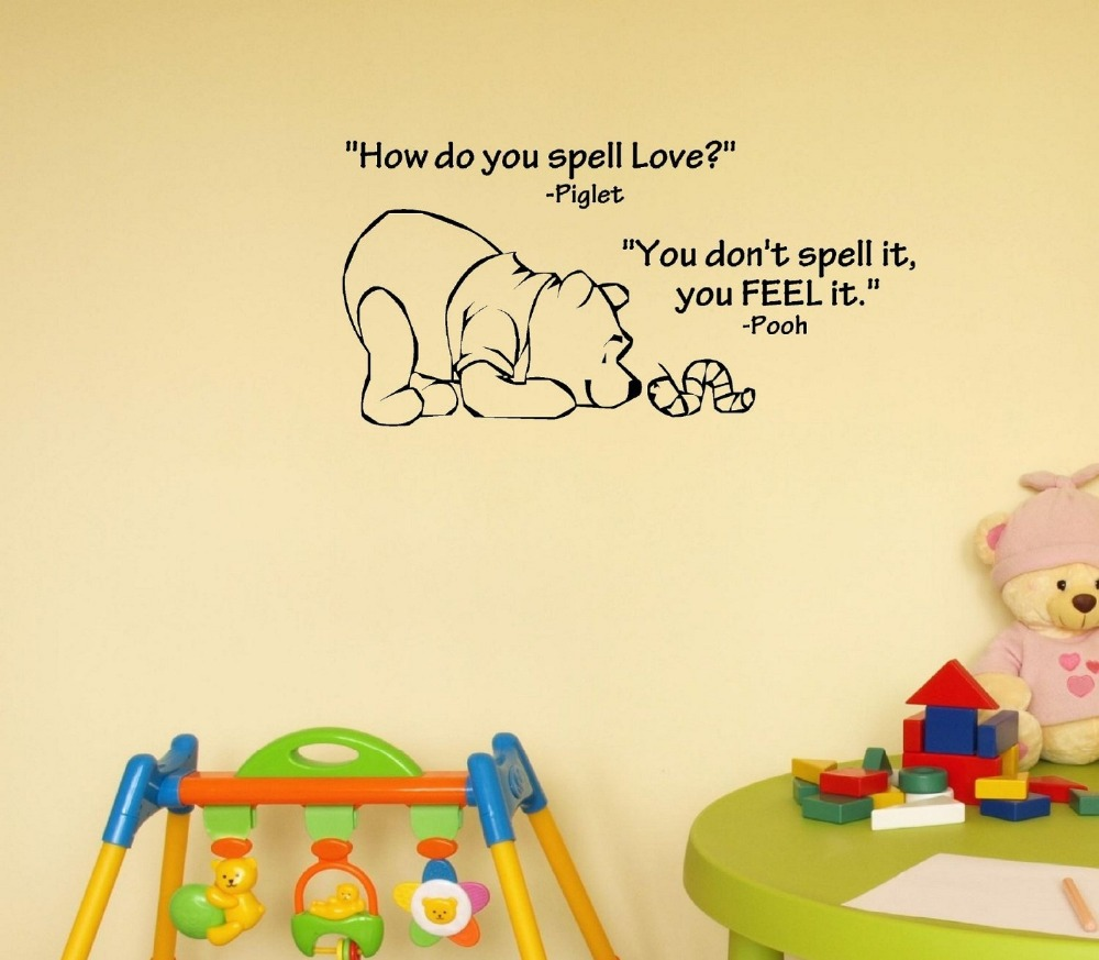 How Do You Spell Love Winnie The Pooh Vinyl Wall Art