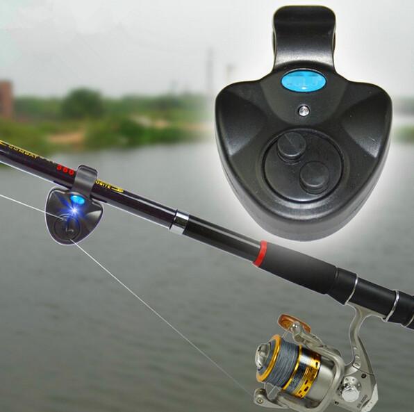 Гаджет  New 2014 Black Electronic LED Light Fish Bite Sound Alarm Bell Clip On Fishing Rod None Безопасность и защита