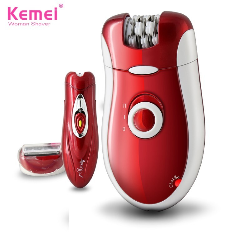 Buy Free Shipping New 3 in 1 Women Shave Wool Device Knife Electric Shaver Wool Epilator Shaving Lady's Shaver Female Care KM-3068 cheap