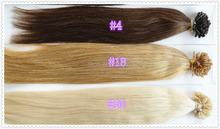 Wholesale U tip hair virgin brazilian u shaped hair 1g/s,100s , nail hair extension
