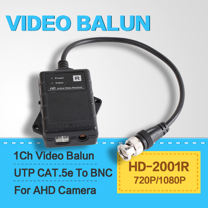 HD Active Passive Video Balun 1080P AHD Camera Receiver UTP Network Power CAT.5e,CAT.6,TO Camera CCTV BNC Support MAX 450M(China (Mainland))