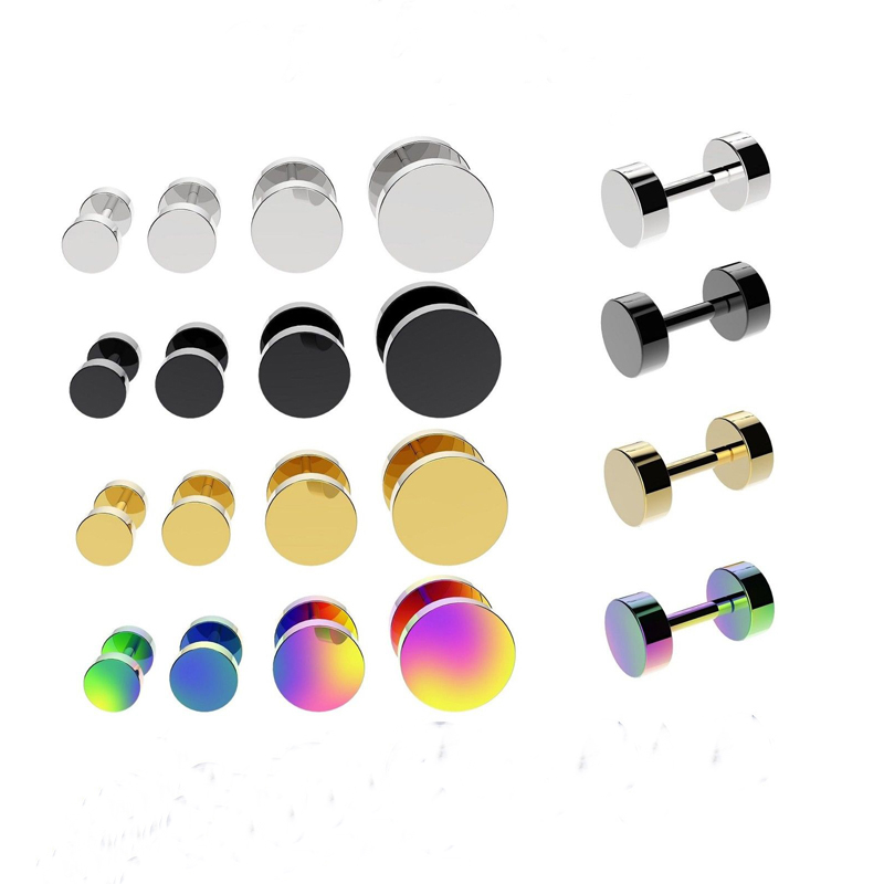 1 Pair Steel Fake Ear Plug Cheater Expander Stretcher Piercing Falso Gauges Piercing Body Jewelry Piercing(China (Mainland))