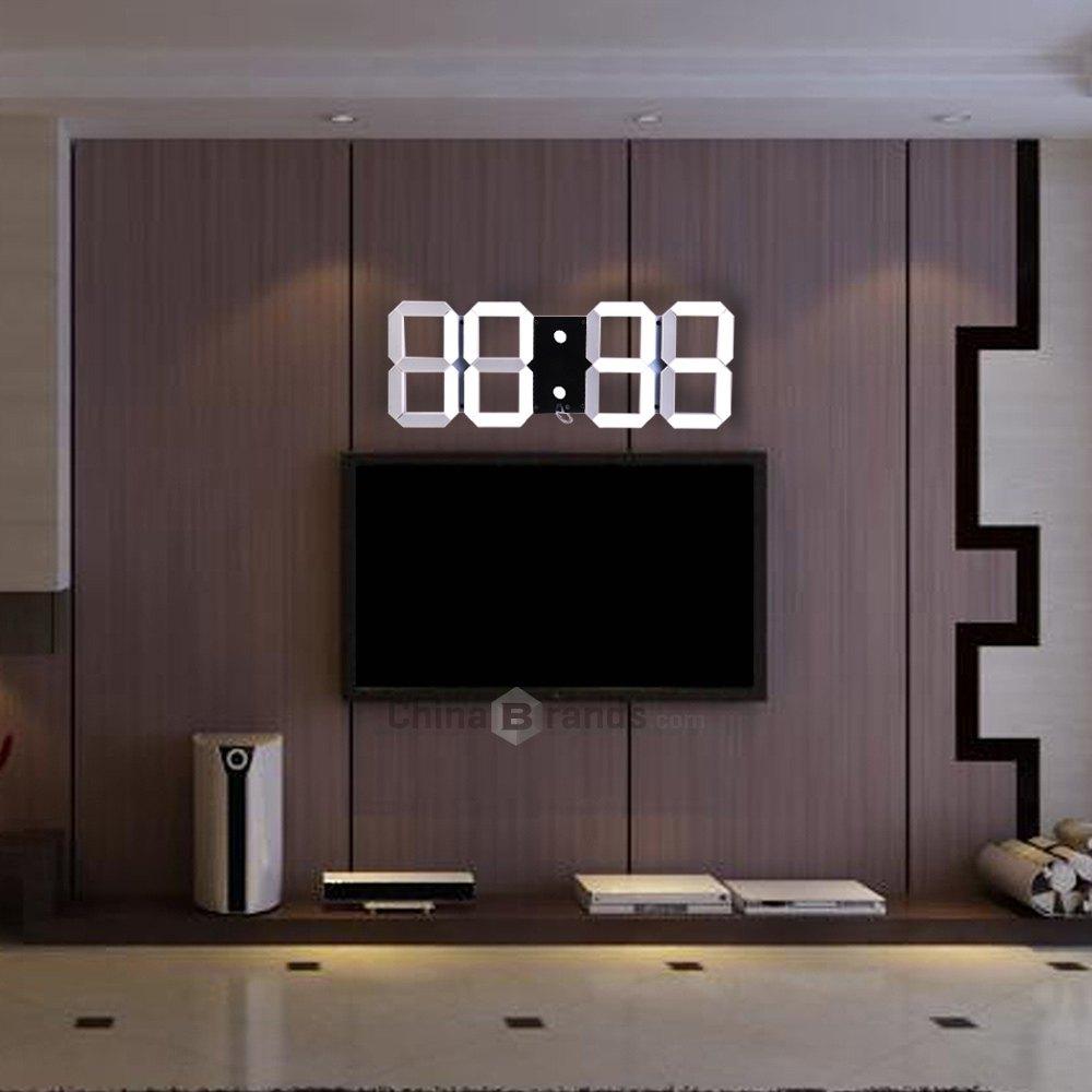Multi-Use Big Led Digital Wall Clock Remote Control Led Brightness Is Adjustable Alarm Stopwatch Thermometer Countdown Calendar(China (Mainland))