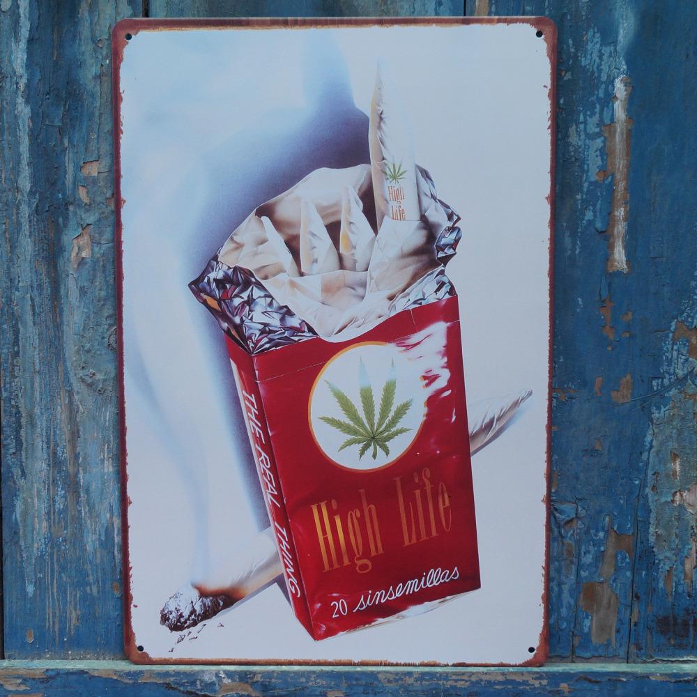 Wall Decor Man Cave Signs : Collectibles high life cigarette metal tin signs pub bar
