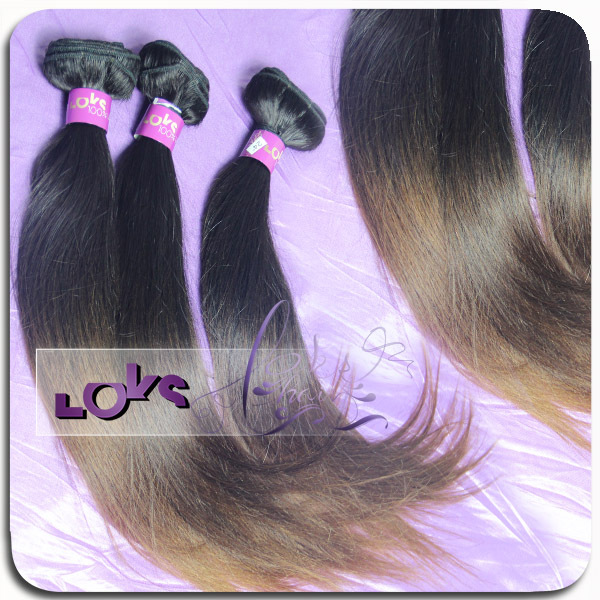 Гаджет  7A Straight Ombre Human Hair Weave in Color 1b to #4 with Full Cuticles Stay Malaysian Ombre Remy Hair Weft  None Волосы и аксессуары