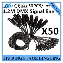50 шт. / 1.2 м DMX сигнальные линии из светодиодов PAR 3-PIN рл DMX кабель профессиональный сценического освещения dj оборудование