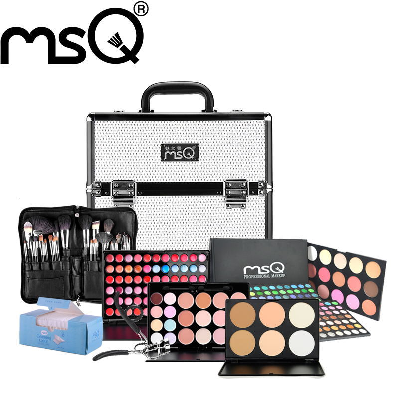 MSQ Brand Professional Makeup Set High Quality Cosmetic Kit Shinning Makeup Case Face Care ...
