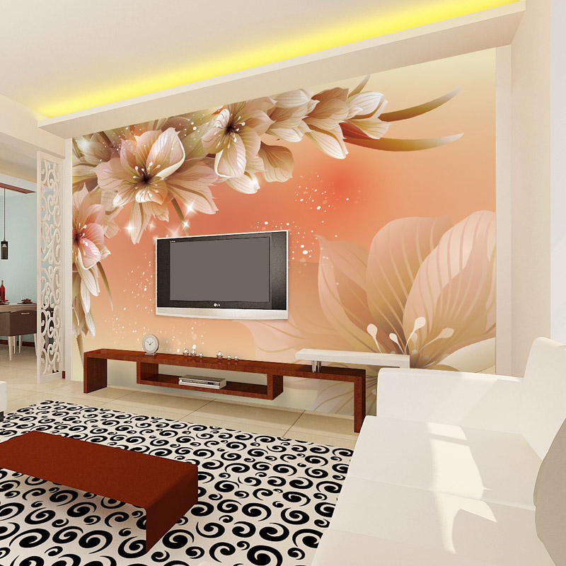 Wallpaper flower picture more detailed picture about for Designer mural wallpaper