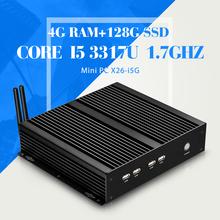 Low power low heat super mini desktop PC-station core i5 3317u 4GB ram 128g ssd 4*com 8*usb 1*RJ-45 thin client laptop computer(China (Mainland))