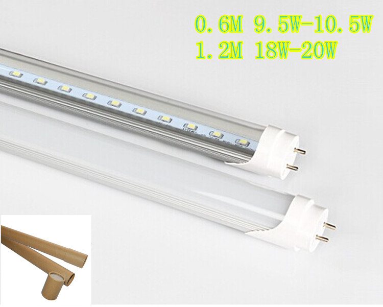 50pcs 600MM 1.2M10W 20W 2835SMD AC85 - 265V Led Fluorescent Tube Cfl Watt T8 Spiral Energy Saving Lamps Free shipping(China (Mainland))