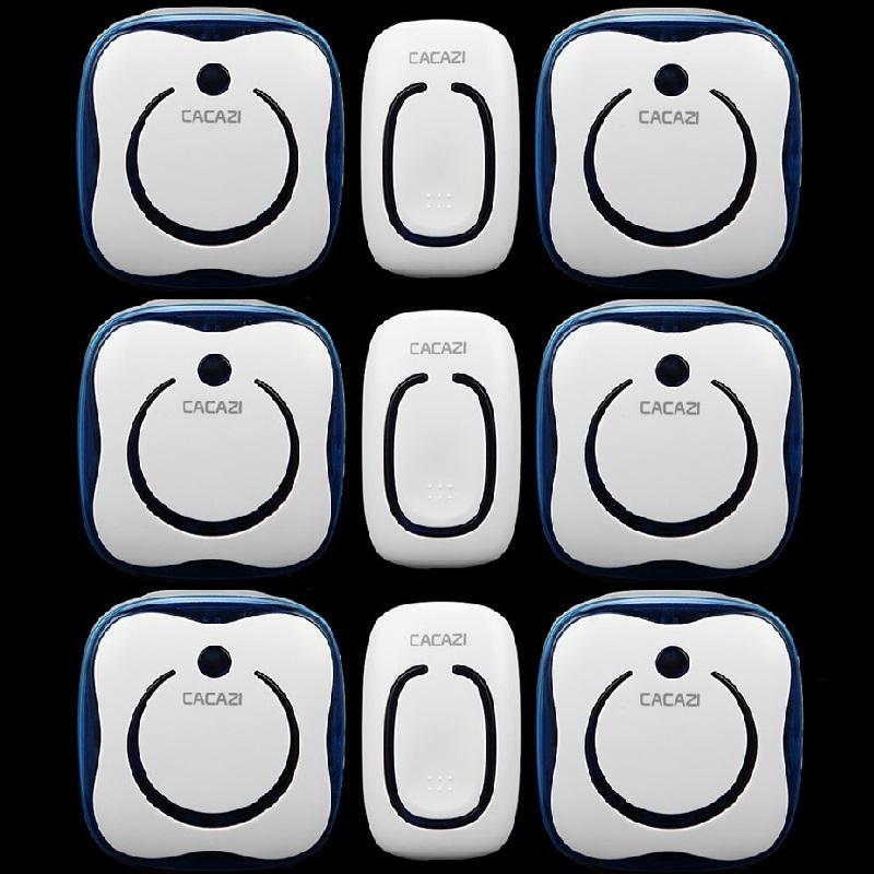 3 Emitter+6 Receivers Waterproof 280M Long-Range Wireless DoorBell,Wireless Door Chime,Wireless Bell,Door Bell,48 Melodies Bell(China (Mainland))