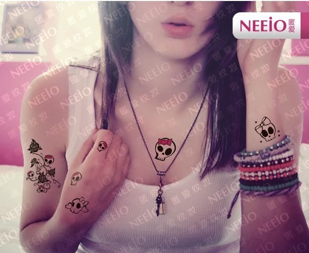 Skull Bracelet Tattoo Skull Temporary Tattoos