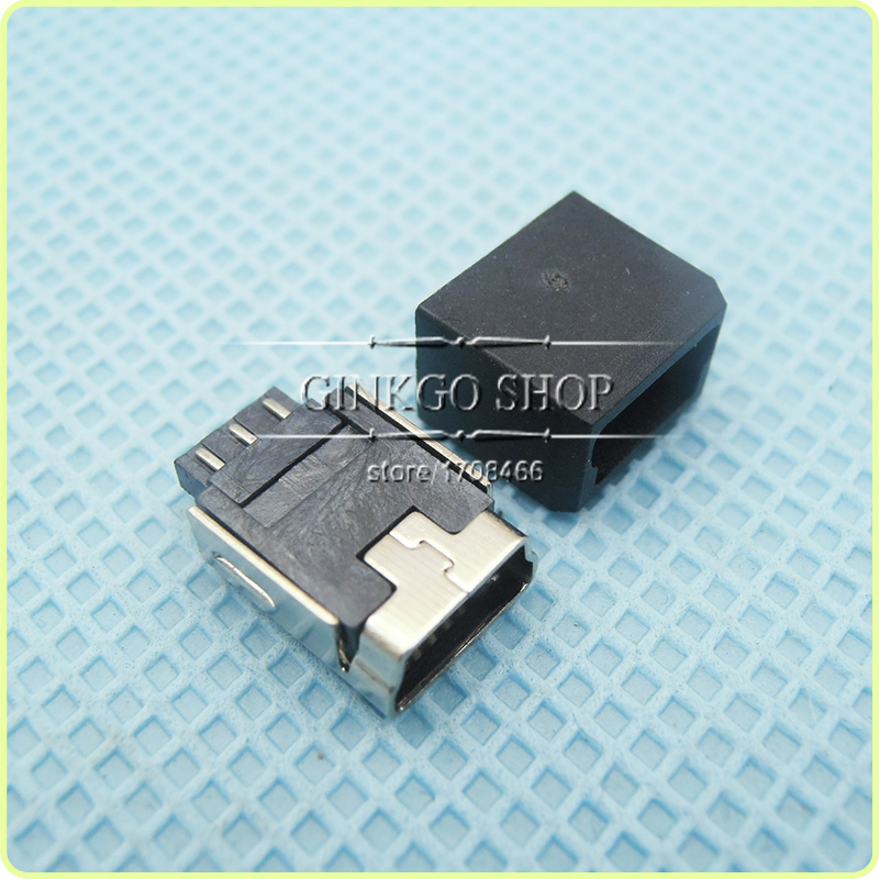 1000sets/lot 2 in 1 MINI USB Jack sockect 5p with plastic shell<br><br>Aliexpress