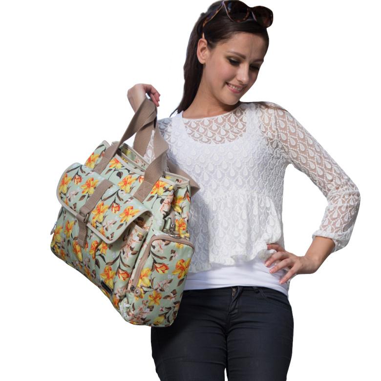 bebamour maternity bag for baby wet bag large fashion designer baby diaper bags mother floral. Black Bedroom Furniture Sets. Home Design Ideas