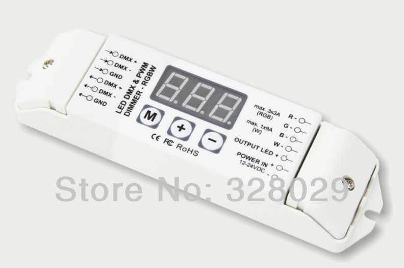 New 2014 Led DMX Controller 12v Led Dmx512 Decoder Bc-834 Multi-function Led Rgb Strip Controller Console Decoder Free Shipping(China (Mainland))