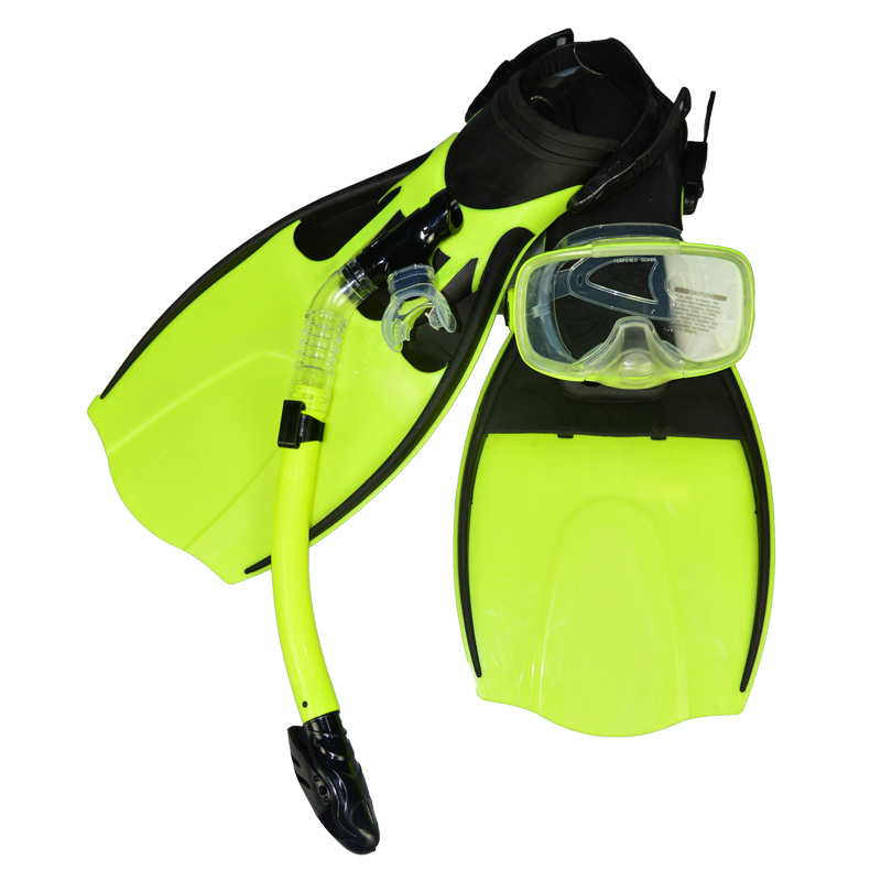 full face spearfishing Diving Mask Snorkel Flippers Set dive athletic equipment MSF2553202(China (Mainland))