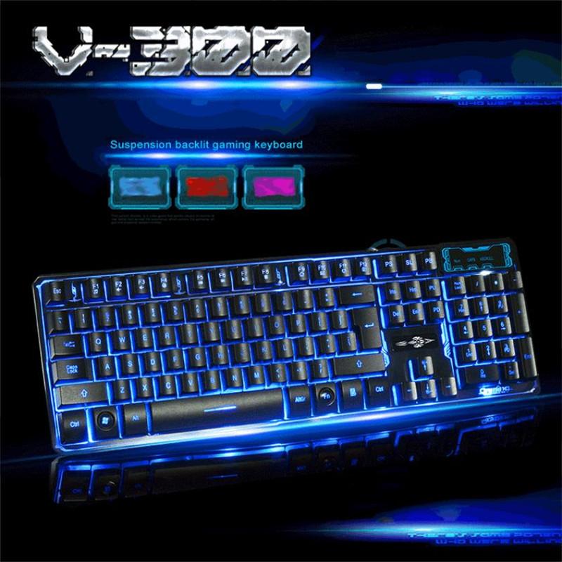 Malloom 2016 Three Color 104 keys LED Backlight Multimedia Ergonomic USB Wired Gaming Keyboard Gamer for Tablet PC #LYFE03(China (Mainland))