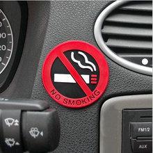 New hot selling car styling No smoking logo stickers car stickers Free shipping(China (Mainland))